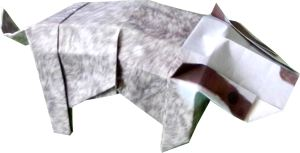 clipart picture of an origami badger