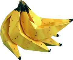 origami bananas clipart picture