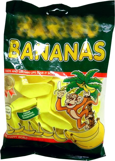 origami banana candy in a bag