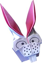 cartoon like origami rabbit