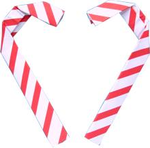 valentine origami candy canes