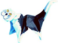 origami cat clipart picture