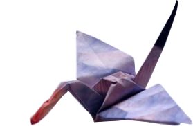 clipart of an origami crane