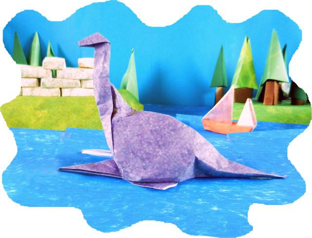 Origami Loch Ness Monster