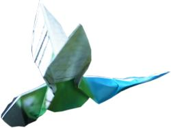 clipart of an origami dragonfly
