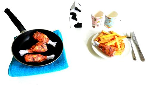 Origami Drumsticks and French Fries