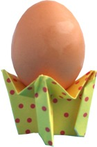 origami egg cup clipart picture