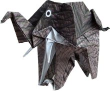 clipart of an origami elephant