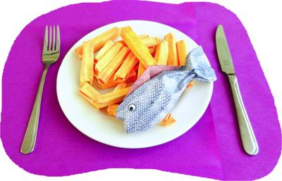Origami Fish and Chips