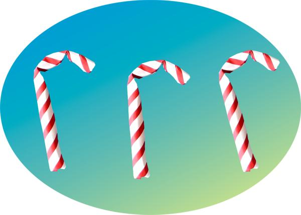Origami Candy Canes clip art