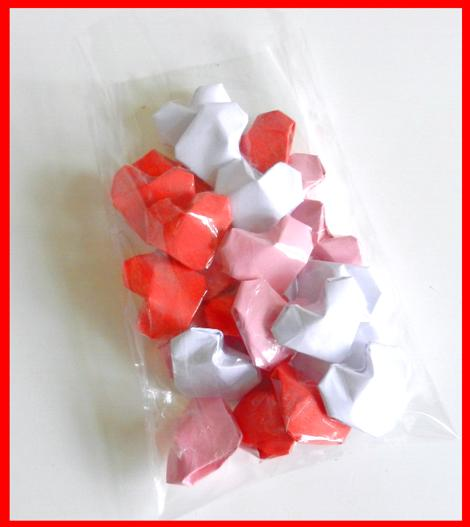 Candy hearts in a bag clip art