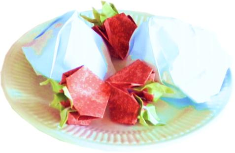 Origami Soft Ice and Strawberries