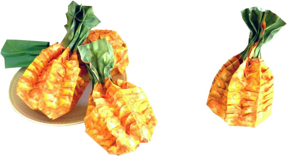 Origami Pineapples