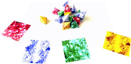 Origami gemstones