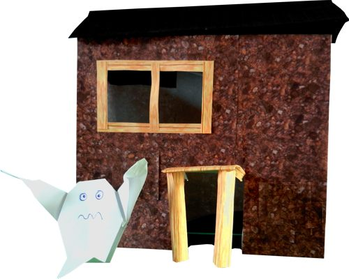 origami ghost house