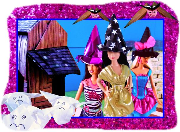 Barbie Origami Witches