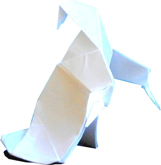 easy to fold origami ghost