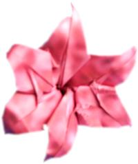 single flower of an origami hyacinth
