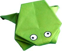 easy origami jumping frog clipart picture