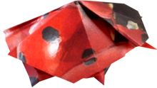 clipart picture of a large red origami ladybug