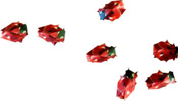 red origami ladybugs