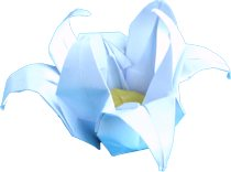 clipart of an origami lotus flower