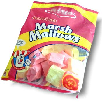 origami marshmallows in a bag