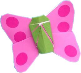 clipart of a cute origami butterfly