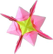 cute clipart picture of a pink origami flower