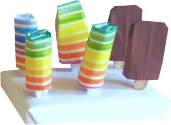 origami popsicles clip art picture