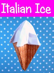 clipart of a poster with an origami icecream