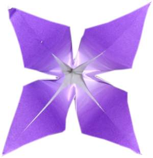 origami flower with four petals