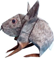 cute origami rabbit clipart picture