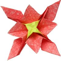 star shaped origami flower