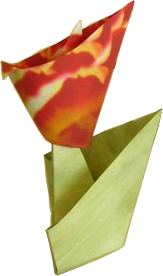 origami flower with stand