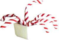 clipart of origami candy canes in a small stone pot