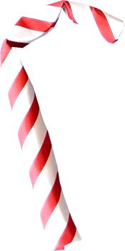 clipart picture of a 3d origami candy cane