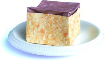 origami sponge cake with chocolate