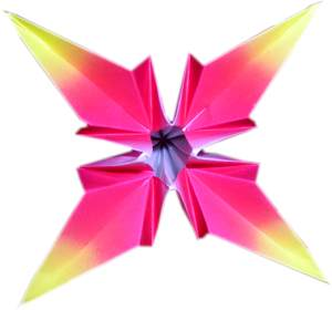 pink origami flower picture