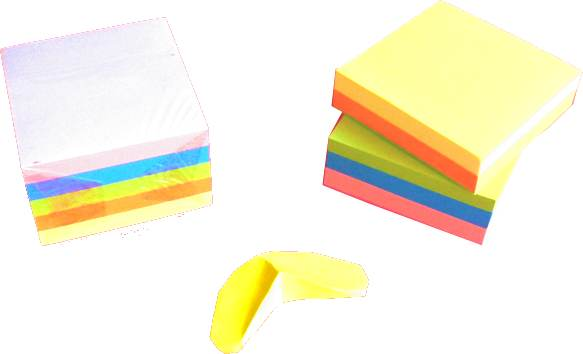 Sticky Note Papers and an origami Banana