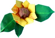 clipart of an origami sunflower
