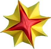 clipart of an origami sunshine flower