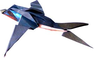 clipart of an origami swallow