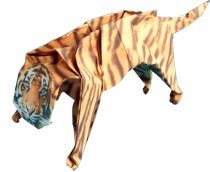 cool origami tiger clipart picture