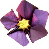 clipart of an origami violet flower