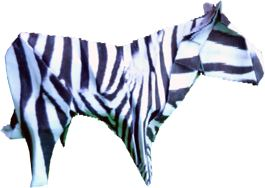 clipart picture of an advanced origami zebra