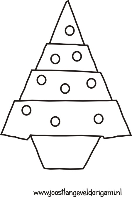 colouring picture of a christmas tree