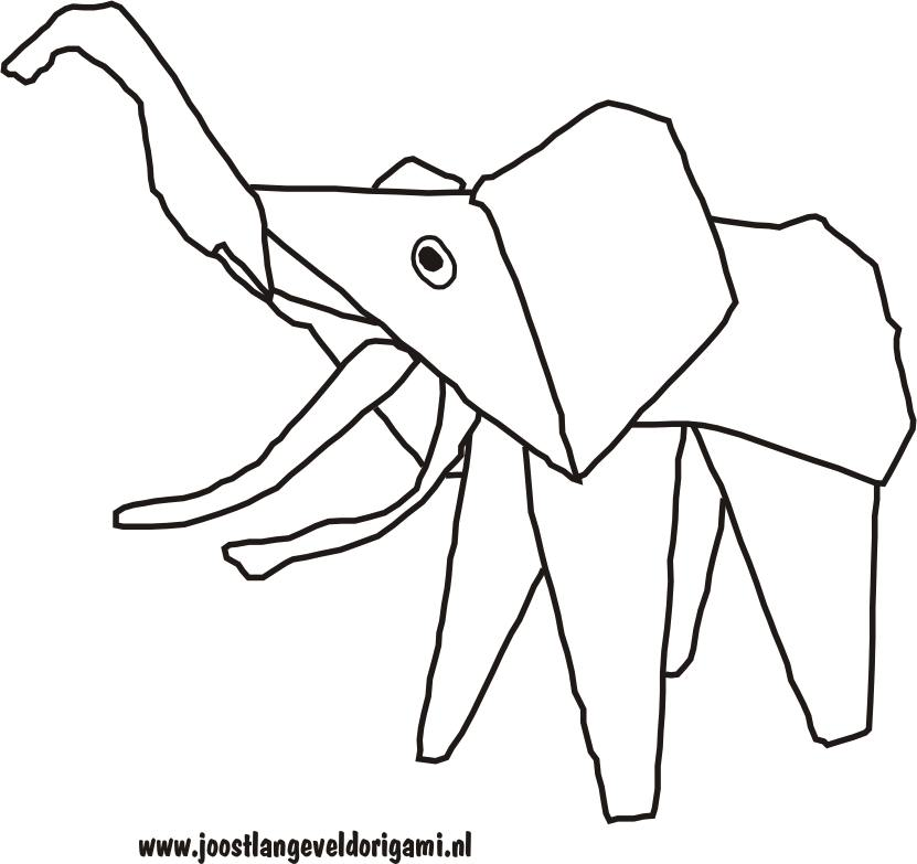 colouring picture of a funny elephant
