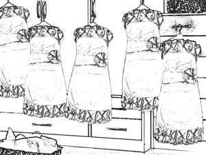 Cute dresses coloring page