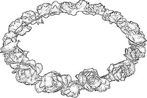 Flower crown coloring picture